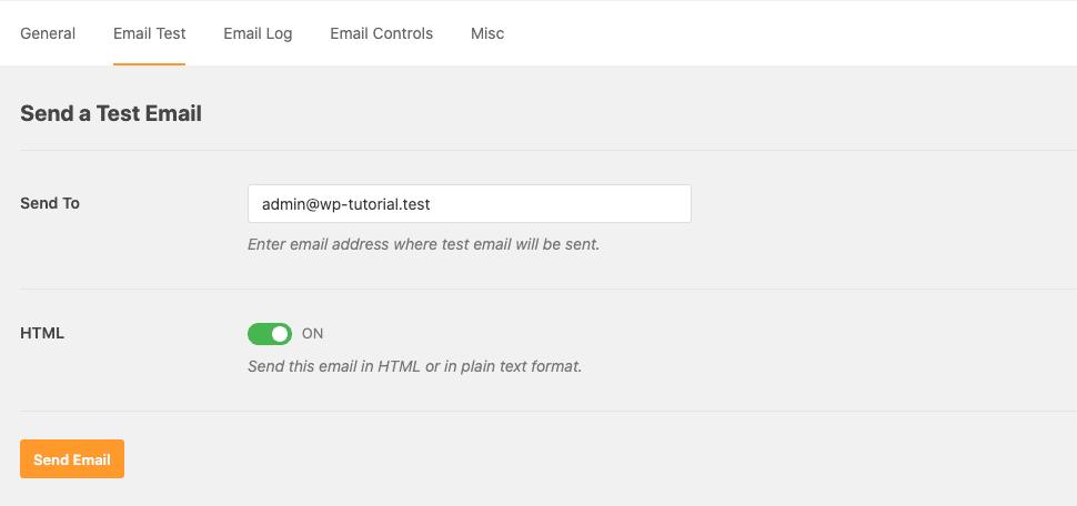 ทดสอบการส่ง Email บน Wordpress Plugin